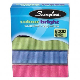 Agrafes swingline couleurs assorties standard