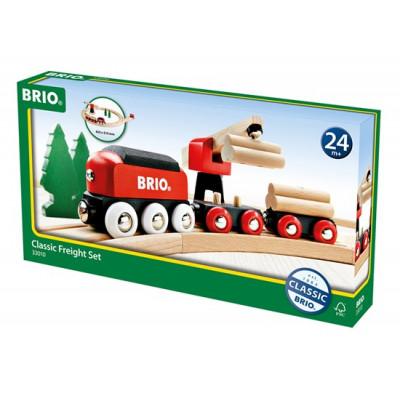 Train classique avec transport de bois