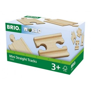 Brio - Mini rails droits