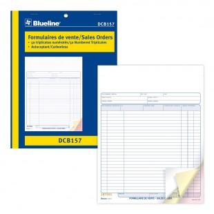 Blueline - Formulaires de vente (DCB157) 3 copies