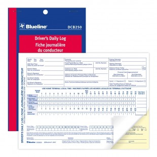 Blueline - Fiche journalière du conducteur (DCB250) 2 copies