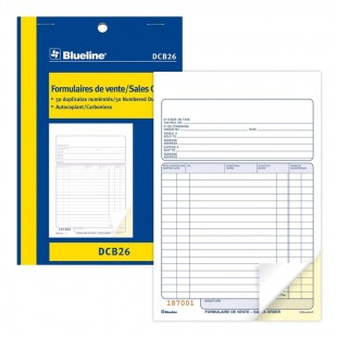 Blueline - Formulaire de vente (DCB26) 2 copies