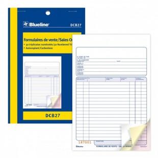Blueline - Formulaire de vente DCB27) 3 copies