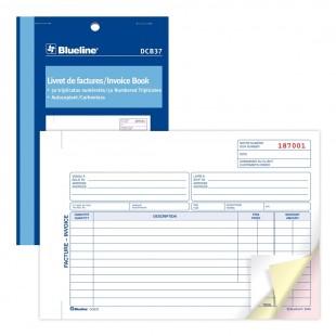 Blueline - Livret de factures (DCB37) 3 copies