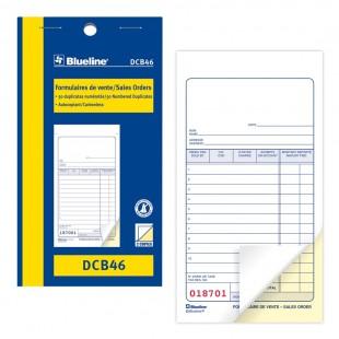 Blueline - Formulaire de vente (DCB46) 2 copies