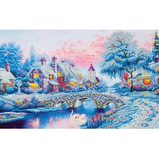Diamond dotz - Village d'hiver 87 x 58 cm