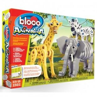 Bloco - La girafe, le zèbre et l'éléphant
