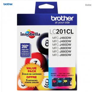 Cartouche d'encre Brother LC201 CL Ensemble de 3 couleurs